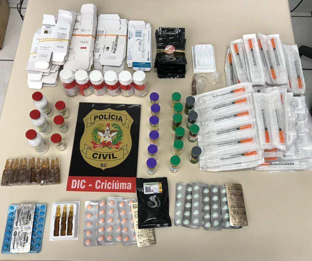 Apreensão de diversos anabolizantes e medicamentos foi realizada no bairro Vila Zuleima